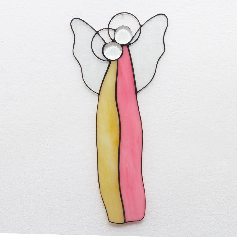 Anioł witraż- para