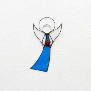 anioł witraż