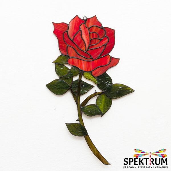 witraż róża