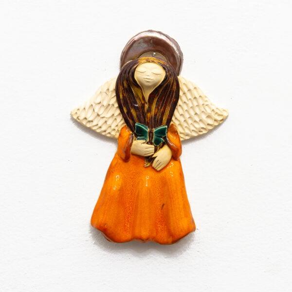 anioł z ceramiki