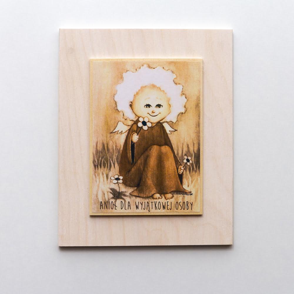 obrazek drewniany Aniola
