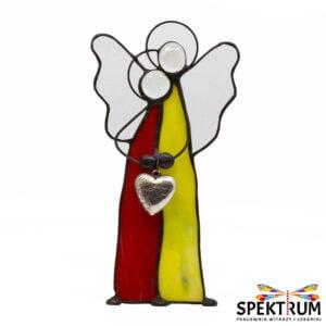 witraż anioł para
