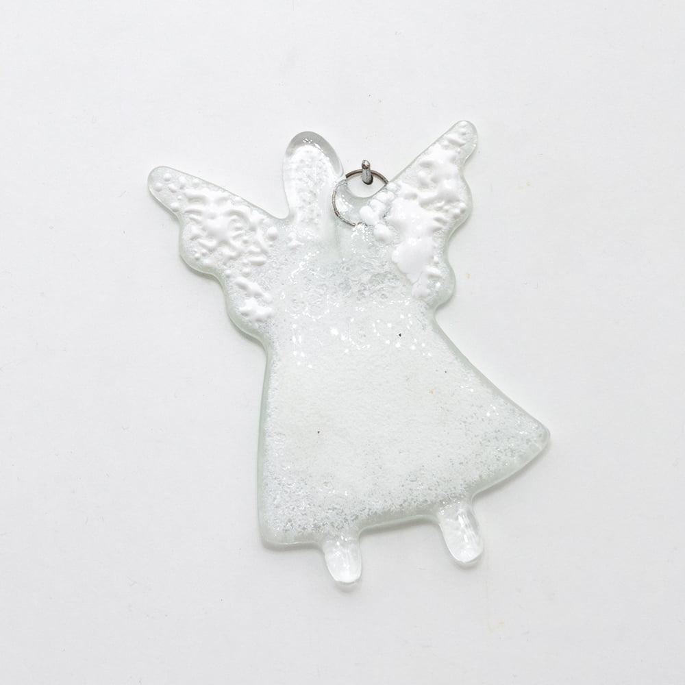 aniołek zawieszka szklana