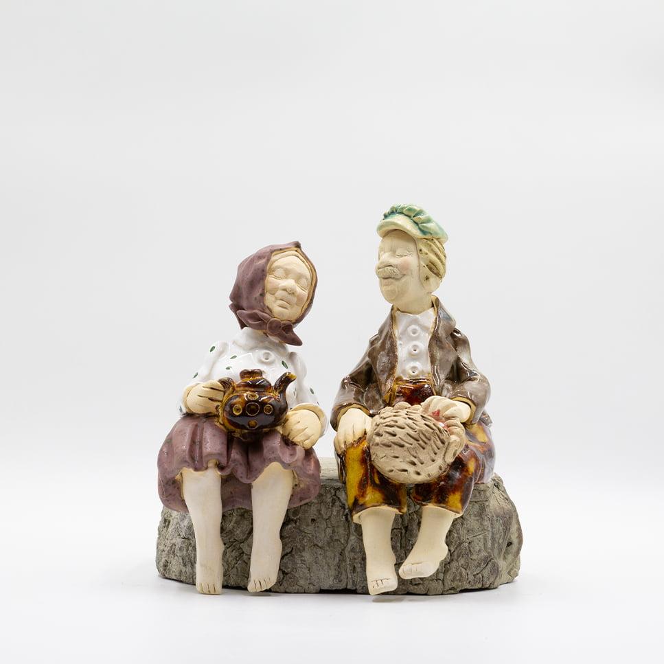 Babcia i Dziadek siedzący