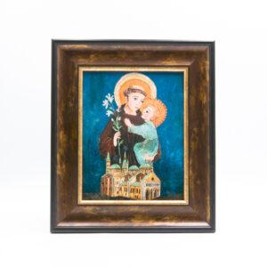 """obraz ceramiczny """"Święty Antoni"""""""