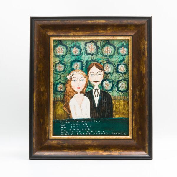 "obraz ceramiczny ""Para ślubna"""