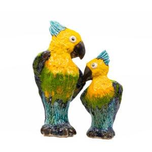 papuga ceramiczna