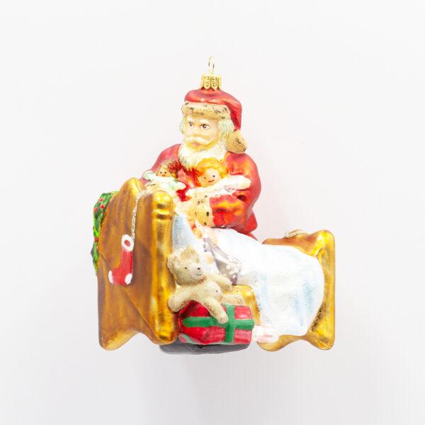 bombka Mikołaj przy łóżku