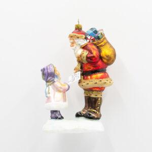 Mikołaj i dziewczynka z listem