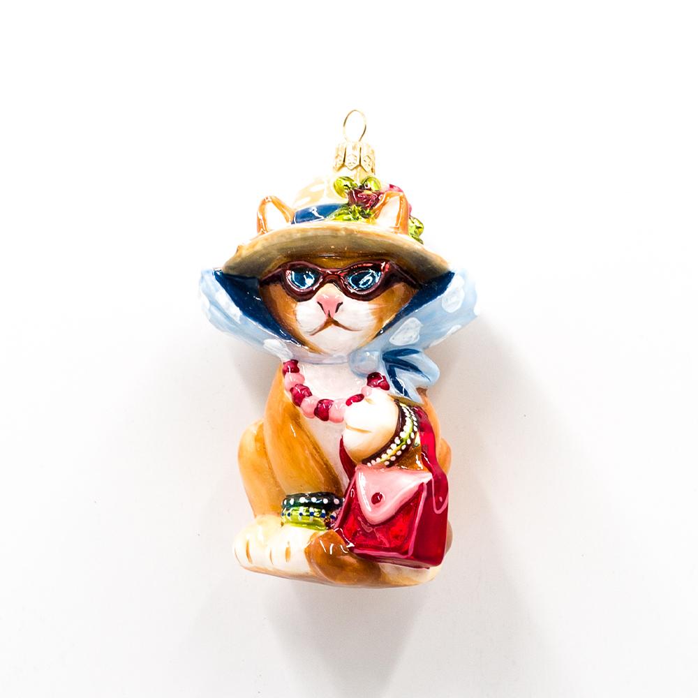 Bombka kotka z torebką