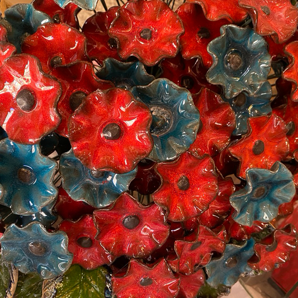 kwiat ceramiczny
