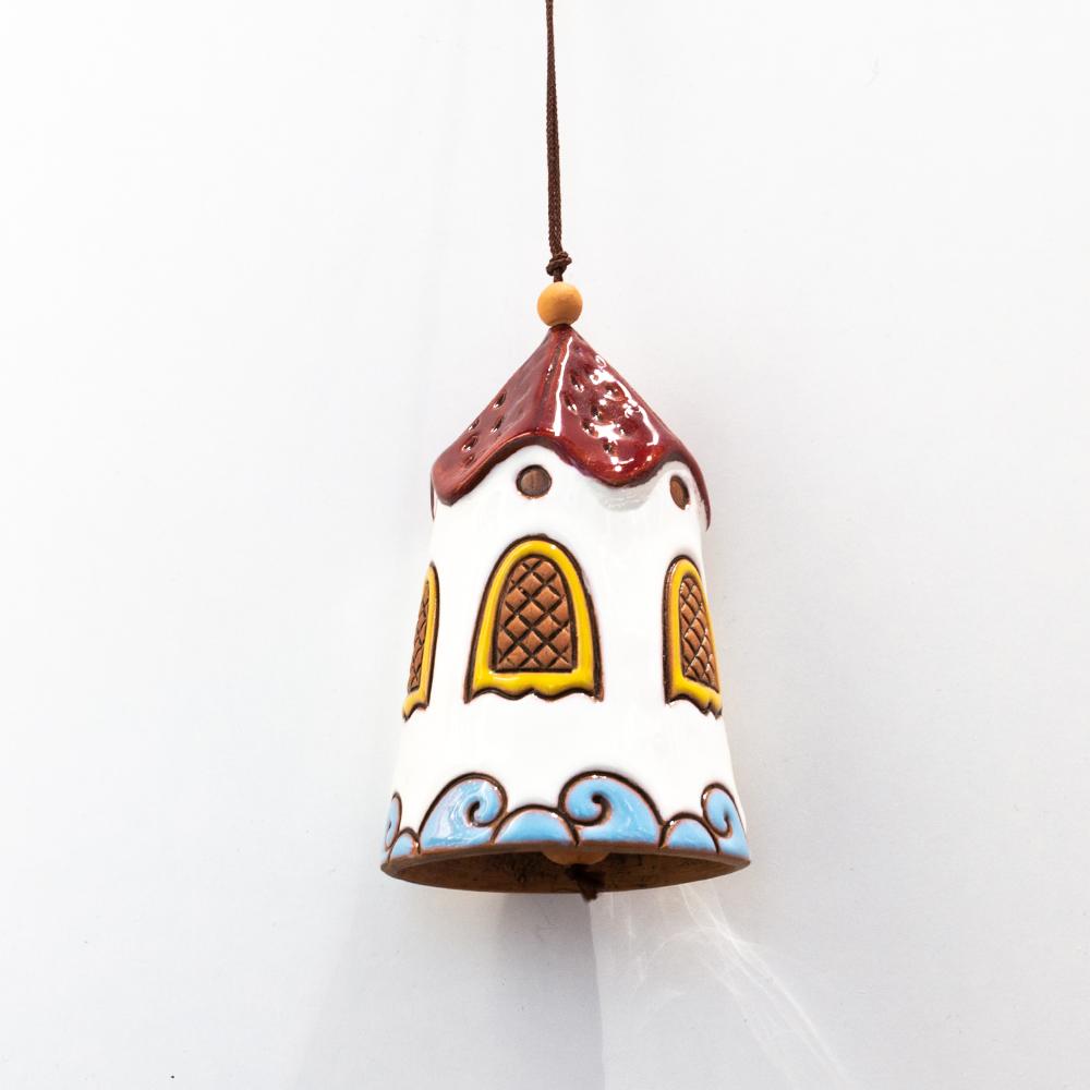 dzwonek domek ceramiczny