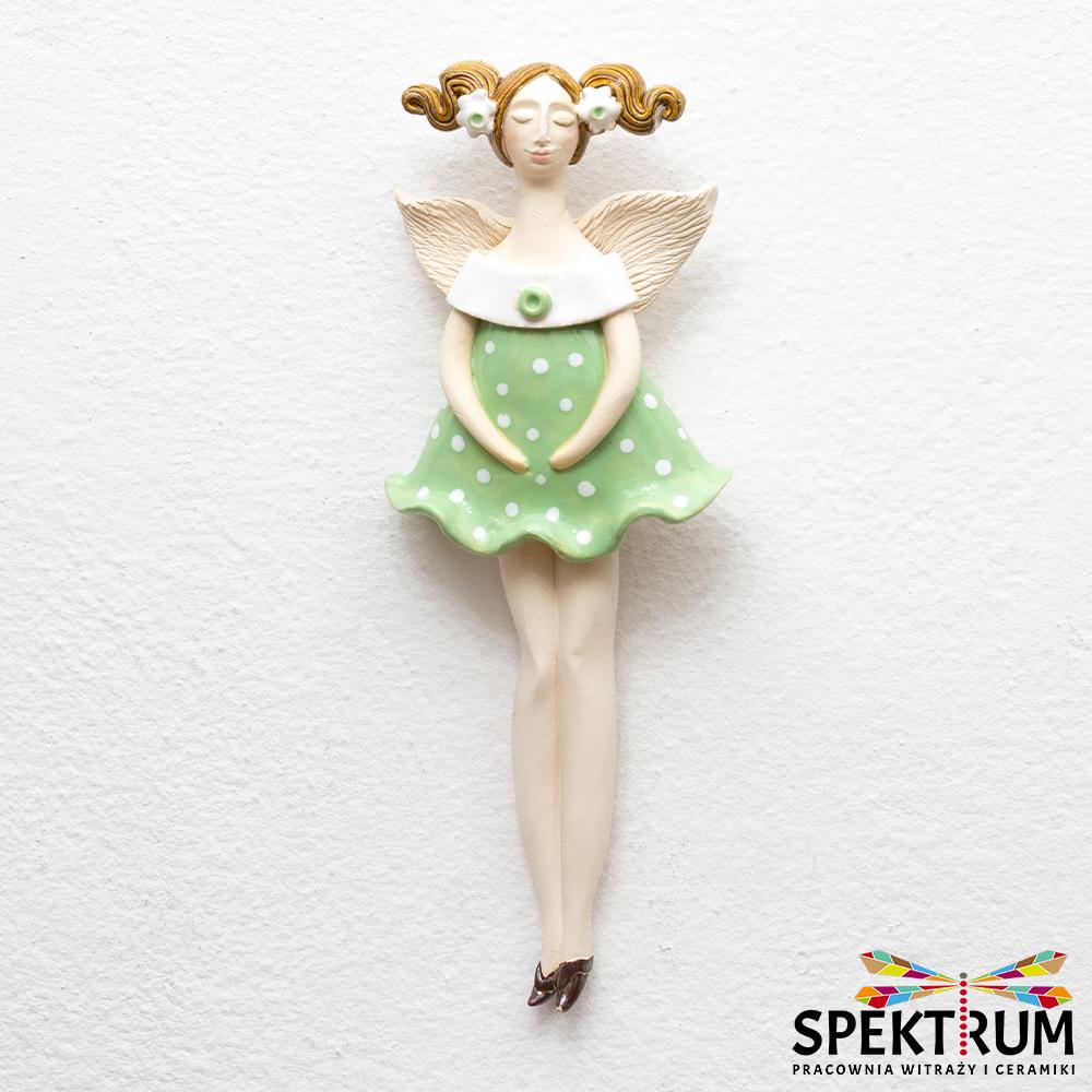 anioł w pistacjowej sukience