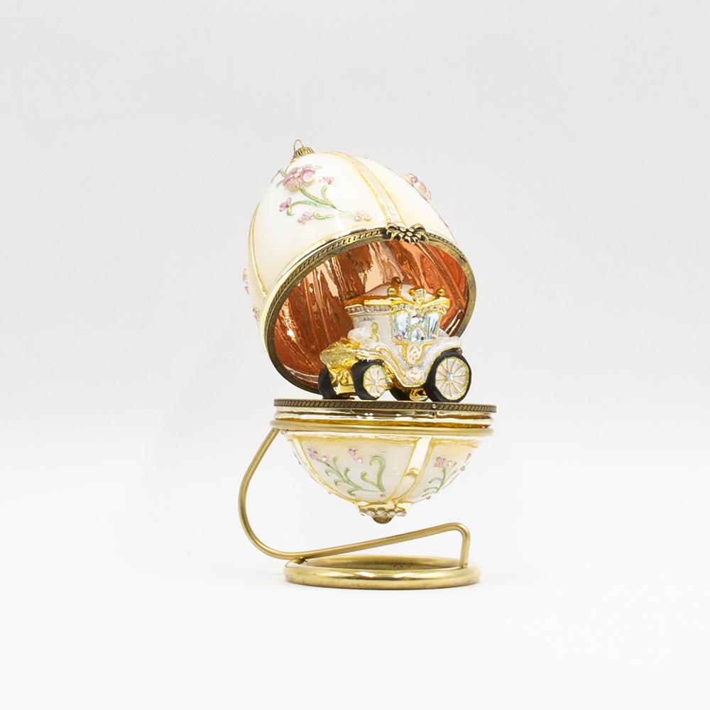 jajko otwierane biała kareta