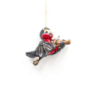 ptaszek grający na skrzypcach
