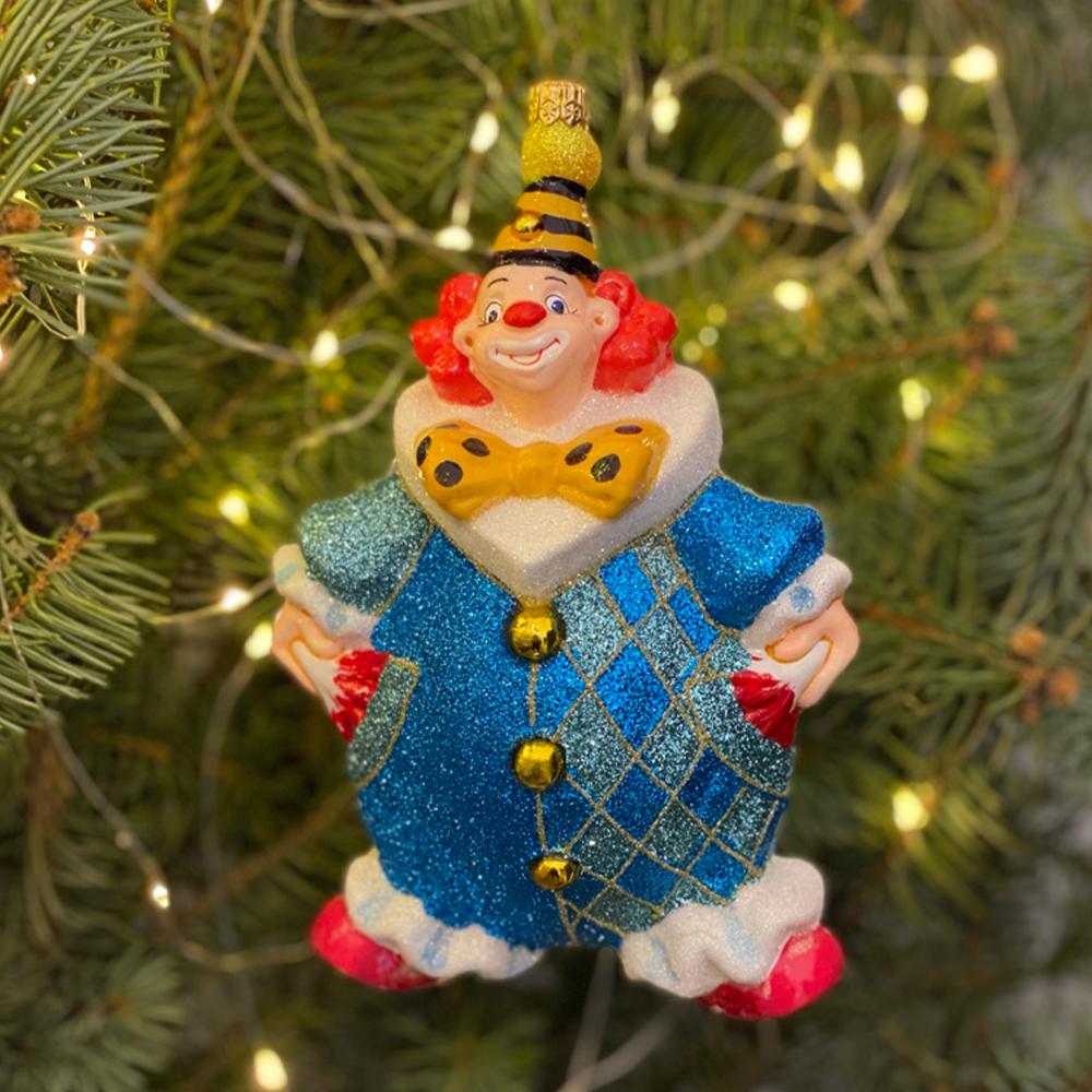 klaun turkusowo-niebieski