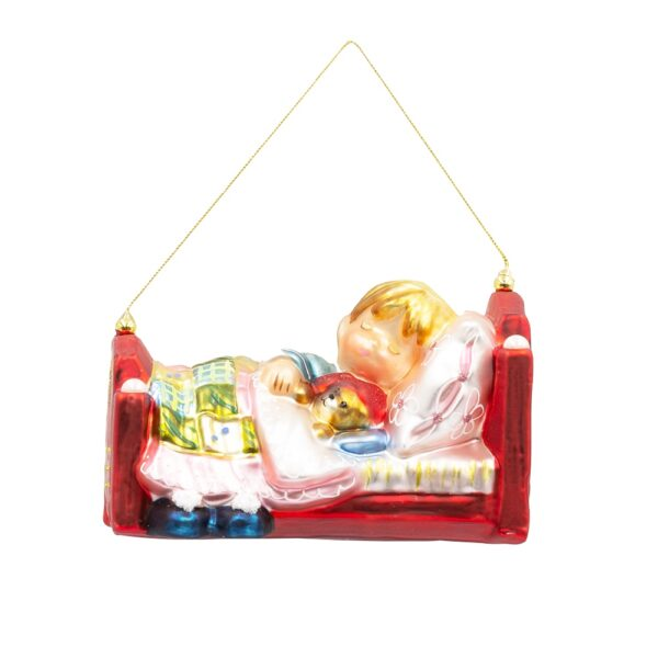 dziewczynka śpiąca w łóżeczku