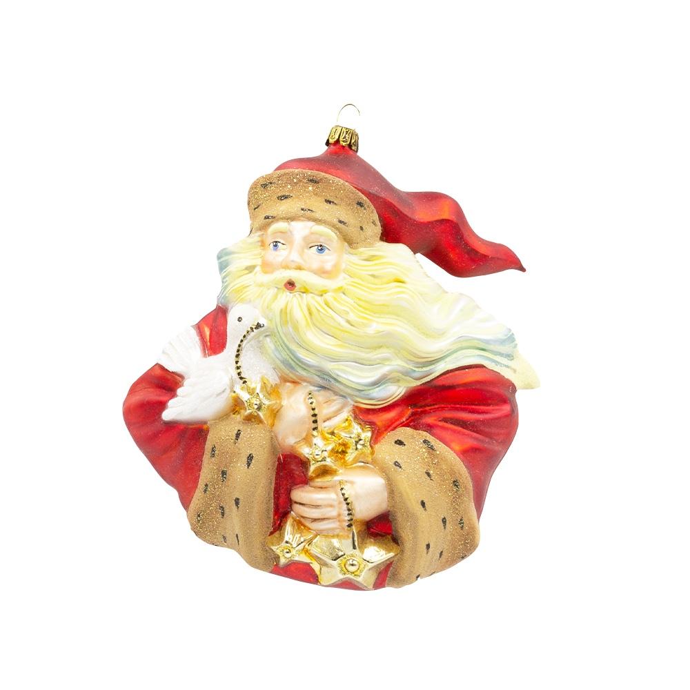 Mikołaj rozwiany z gołębiem