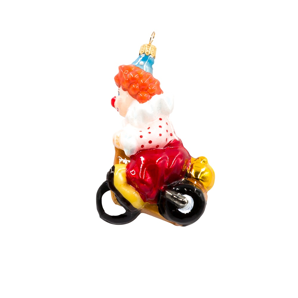 klaun na rowerku