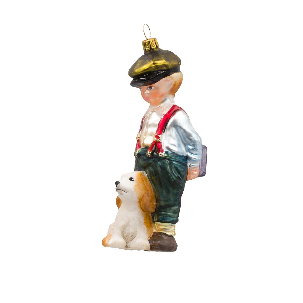 chłopiec z psem