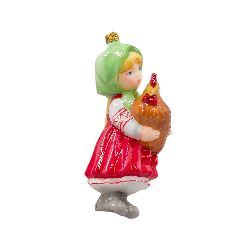 Dziewczynka z kurą