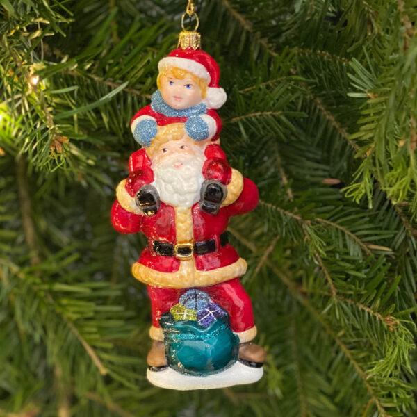 Mikołaj z Nowym Rokiem na barana