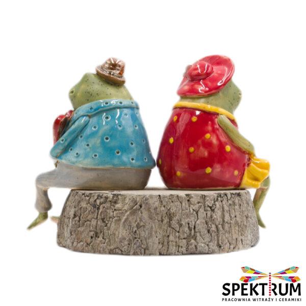 Żaba ceramiczna w ubranku, para