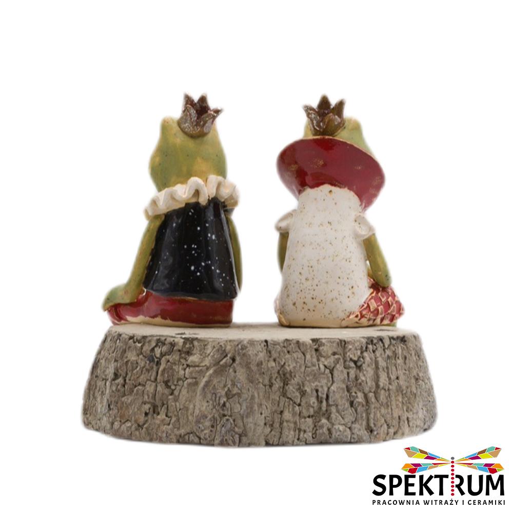 Żaba ceramiczna w ubranku, para królewska