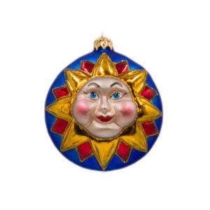 Bombka Słońce dwustronna, granatowa