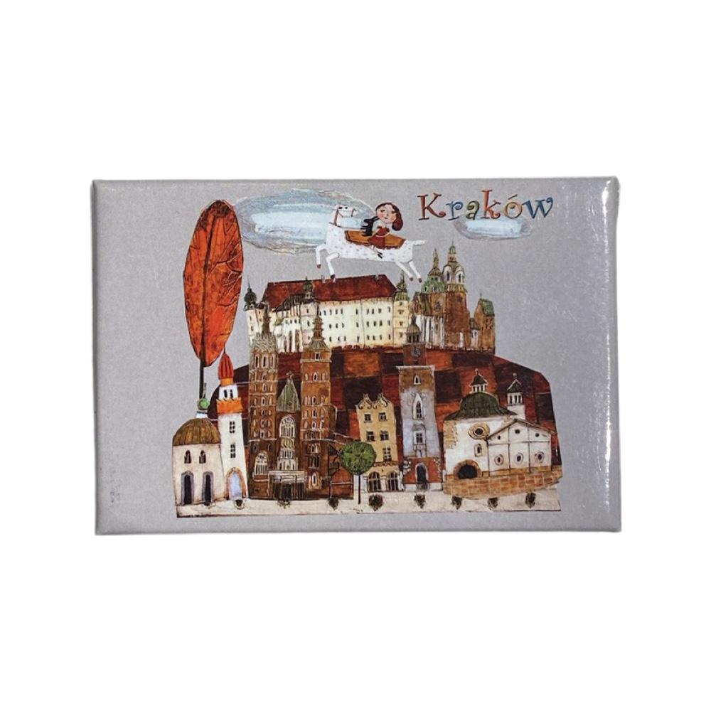 Magnes Kraków z dziewczynką na koniu