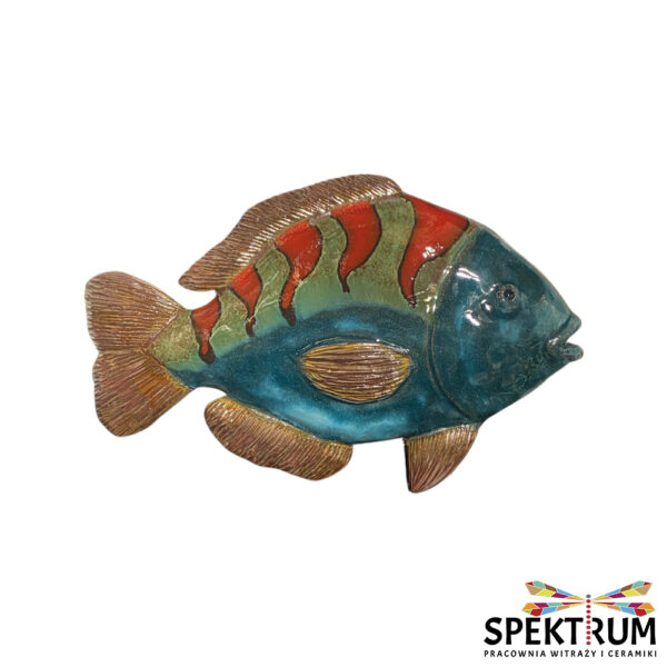 Ryba ceramiczna do zawieszenia, duża